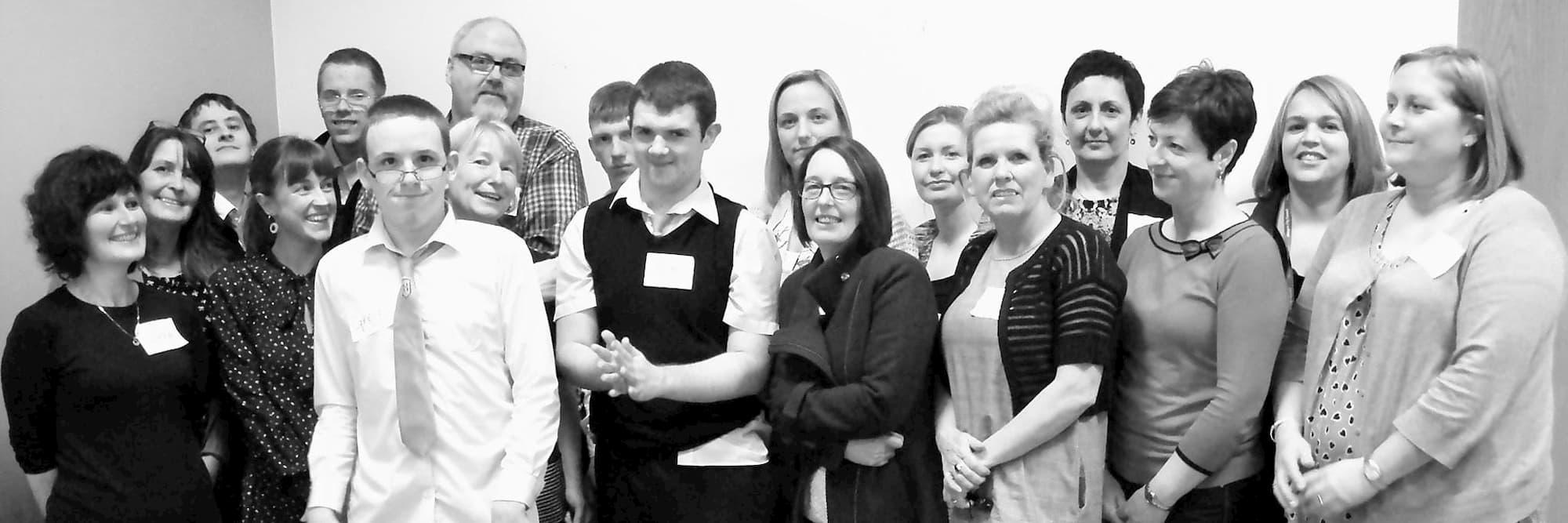 Glasgow school leavers co-design team group photo